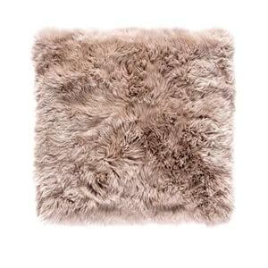 Jasnobrązowy dywan kwadratowy z owczej wełny Royal Dream Zealand, 70x70cm