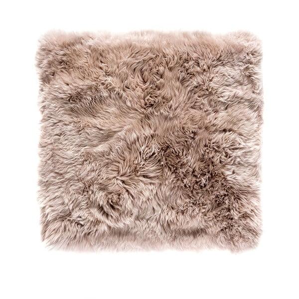 Jasnobrązowy dywan kwadratowy z owczej wełny Royal Dream Zealand