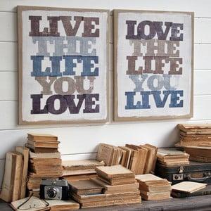 Dekoracja ścienna Love/Live, 2 szt.