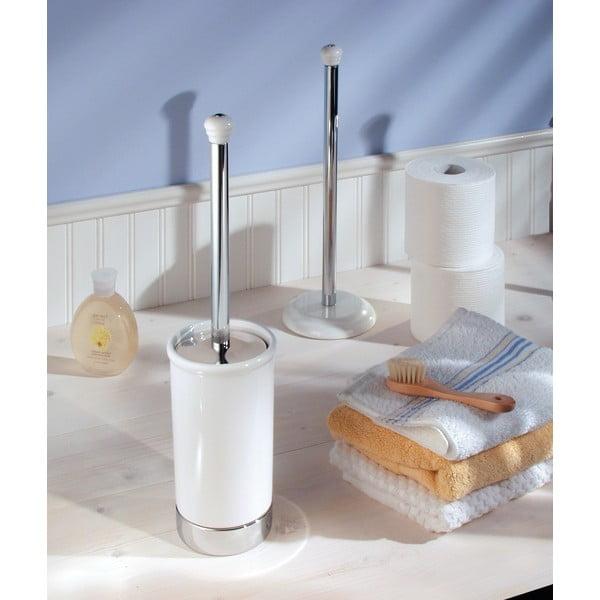 Biała szczotka toaletowa do WC InterDesign York