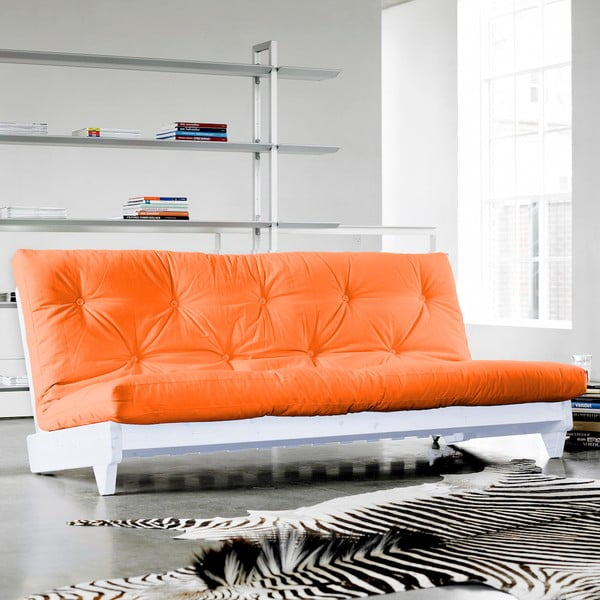 Sofa rozkładana Karup Fresh White/Orange