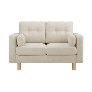 Kremowa sofa dwuosobowa Stella Cadente Lagoa