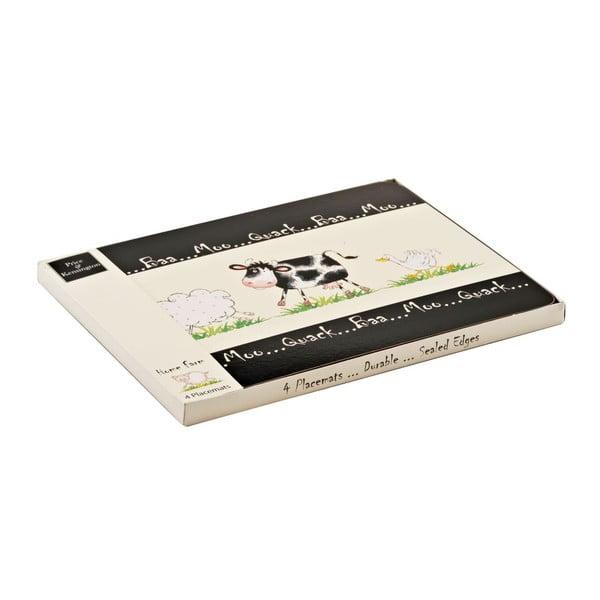 Zestaw   4 mat stołowych Home Farm, 29x21,5 cm