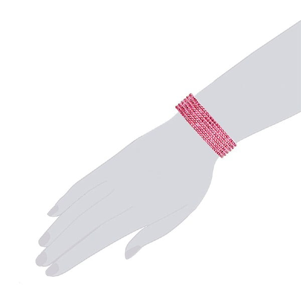 Bransoletka Simply Pink, 19 cm
