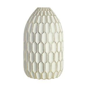 Biały wazon dekoracyjny Premier Living Complements Hilda