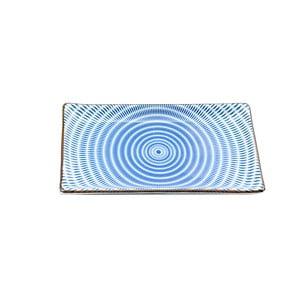 Talerz porcelanowy Blue Stripe, 21.6 cm