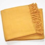 Żółty koc Euromant Basics, 140x180 cm