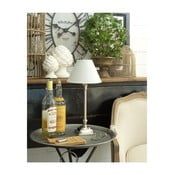 Lampa stołowa z podstawą z drewna mangowego Orchidea Milano Chrome,wysokość40cm
