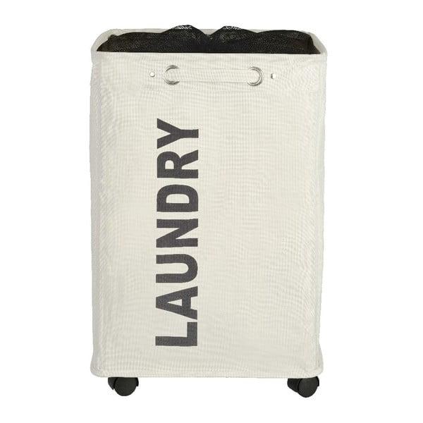 Beżowy kosz na pranie Wenko Quadro, 79,2 l