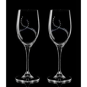 Zestaw 2 kieliszków do białego wina Harmonia ze Swarovski Elements