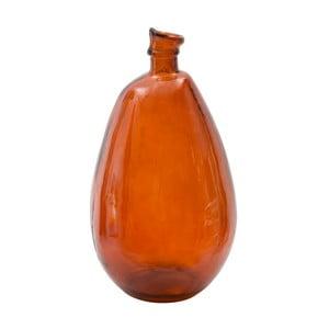 Czerwony wazon ze szkła z recyklingu Mauro Ferretti Put, wys.47cm