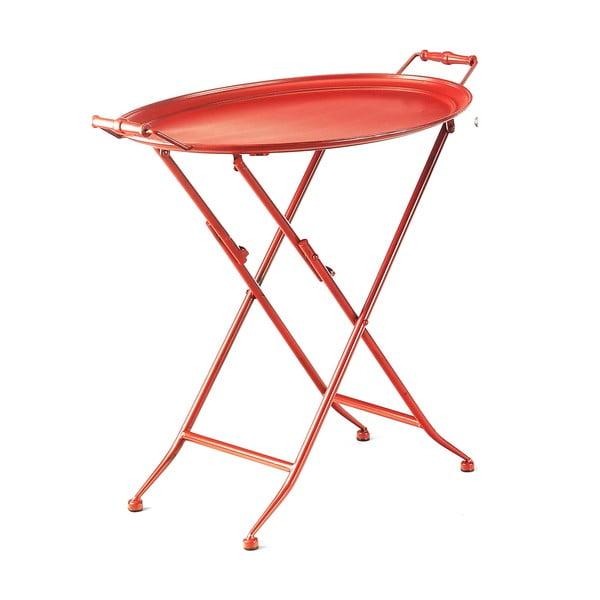 Czerwony stolik z tacą Novita Servetto