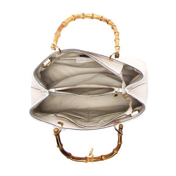 Skórzana torebka Cerla, beżowa