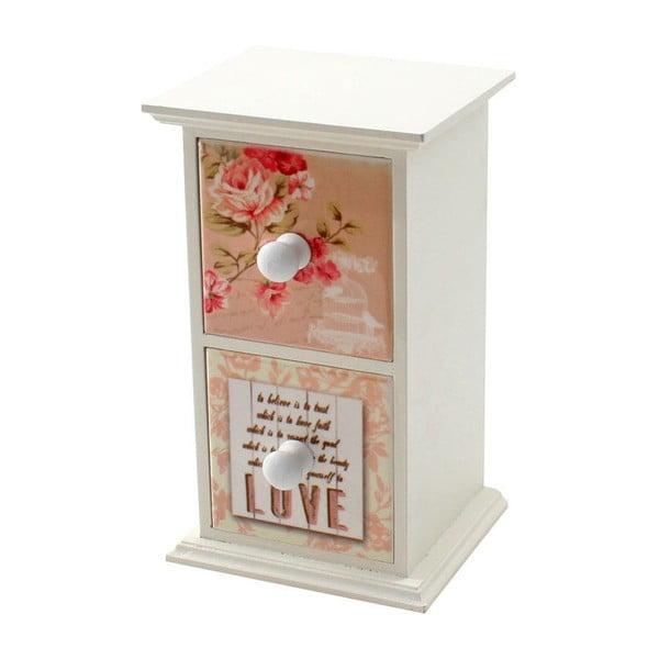 Pudełko na biżuterię Roses in White