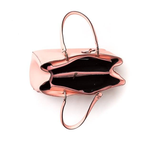 Skórzana torebka Freya, różowa