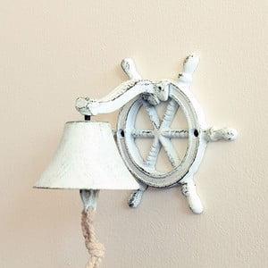 Żeliwny dzwonek ścienny Sea, biały