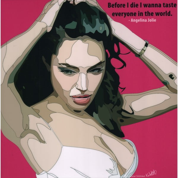 "Obraz ""Angelina Jolie"""