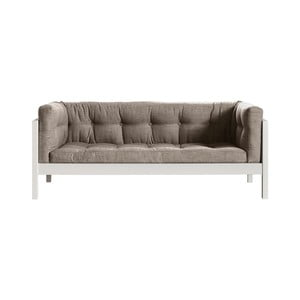 Sofa dwuosobowa Karup Fusion White/Linoso Light Gray
