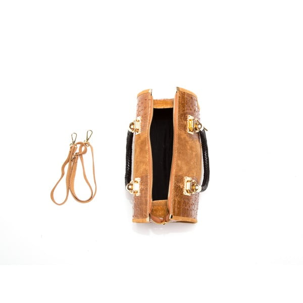 Skórzana torebka Isabella Rhea 822 Cognac