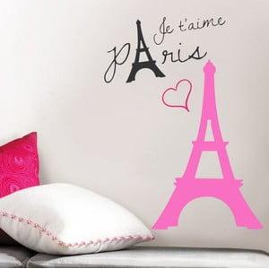Naklejka na ścianę Różowa Francja, 60x90 cm