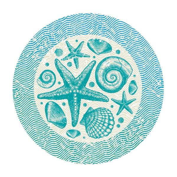Naklejki Sea Mandala, 4 szt