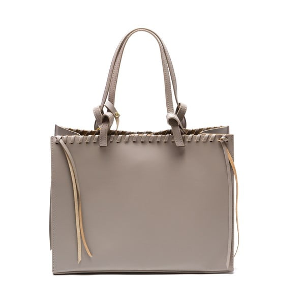 Skórzana torebka Felicia, beżowa