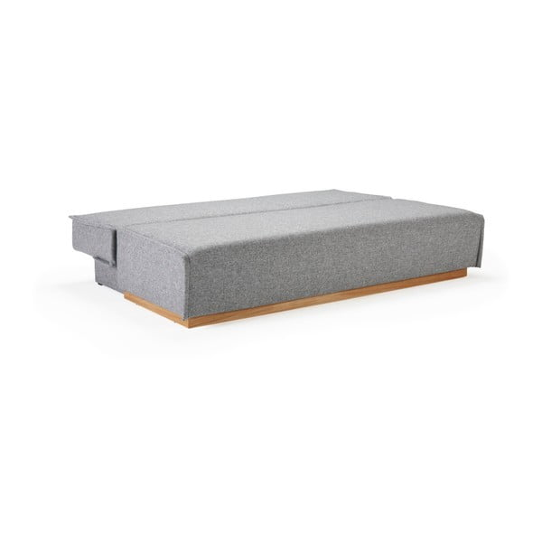 Szara sofa rozkładana ze schowkiem Innovation Alrik