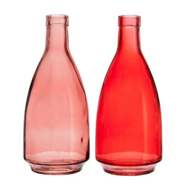 Komplet 2 wazonów Glass Red