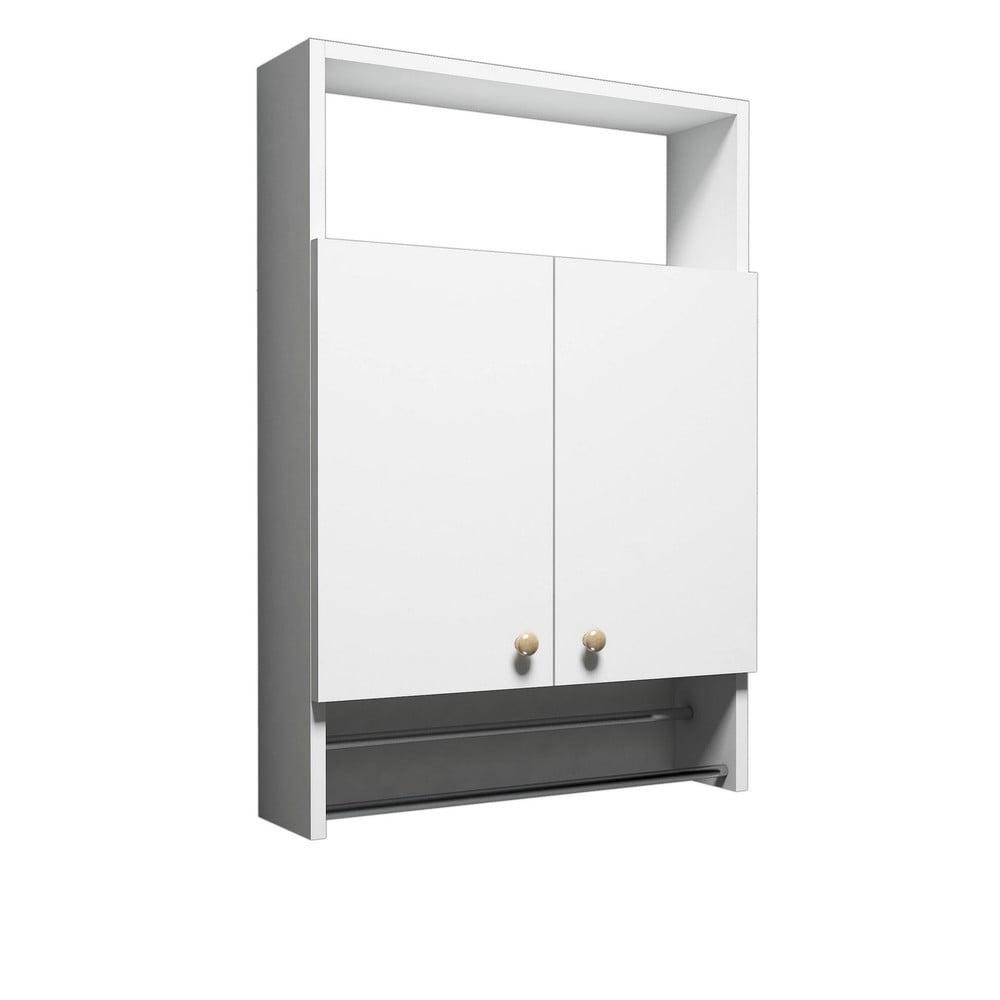 Biała szafka łazienkowa z wieszakiem na ręczniki, Bathroom Cabinet