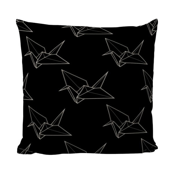 Poduszka Black Shake Origami Bird, 50x50 cm