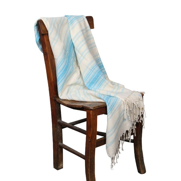 Turkusowy ręcznik hammam Artemis Turquoise, 90x190cm