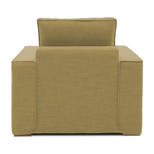 Musztardowy fotel Vivonita Jane