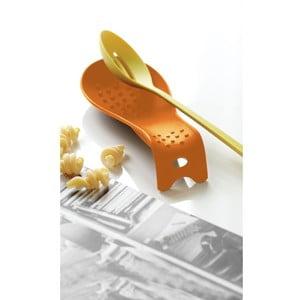 Pomarańczowa podstawka do odkładania łyżki Steel Function Roma