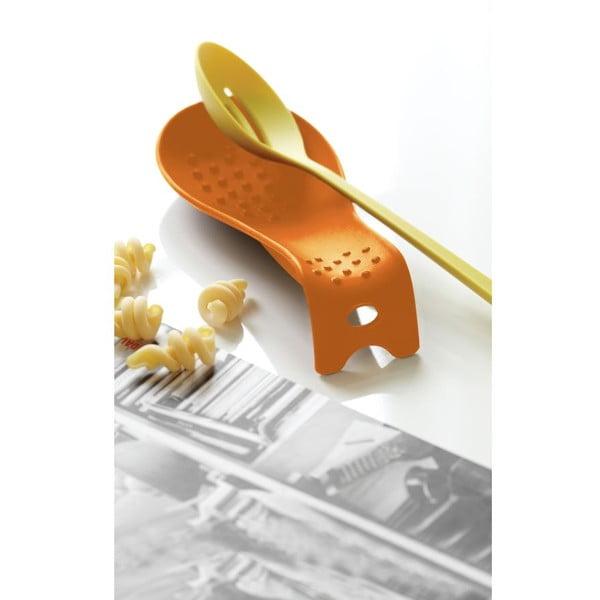 Podstawka do odkładania łyżki Steel Function Roma, pomarańczowa