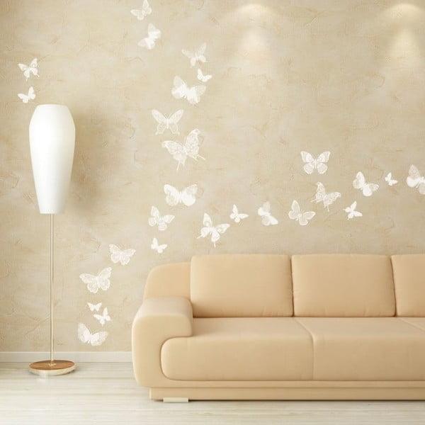 Zestaw 26 naklejek Chic Butterflies White