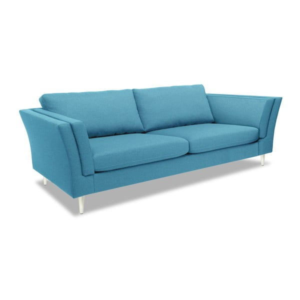 Turkusowa sofa 3-osobowa Vivonita Connor