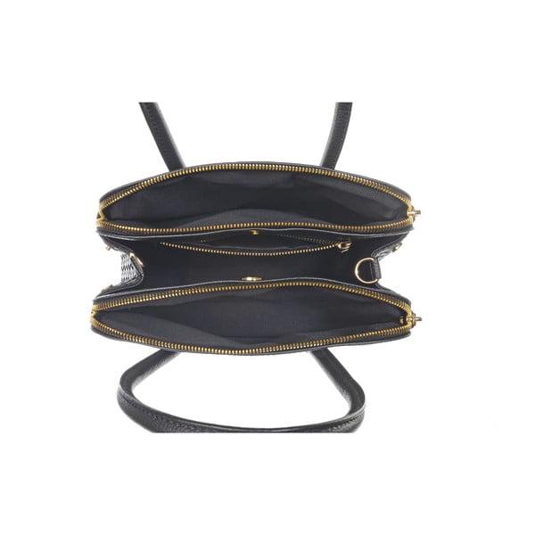 Skórzana torebka Twist Black