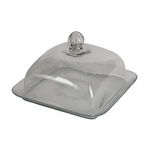 Zestaw 2 szklanych półmisków z kloszem Antic Line Glassie