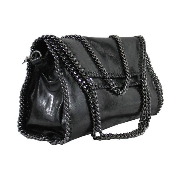 Czarna skórzana torebka Brandy