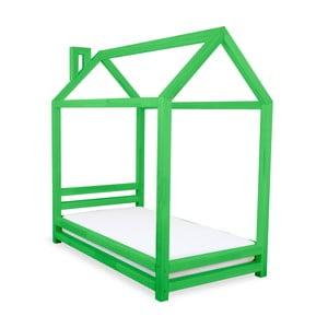 Zielone łożko dziecięce z drewna sosnowego Benlemi Happy,90x200cm