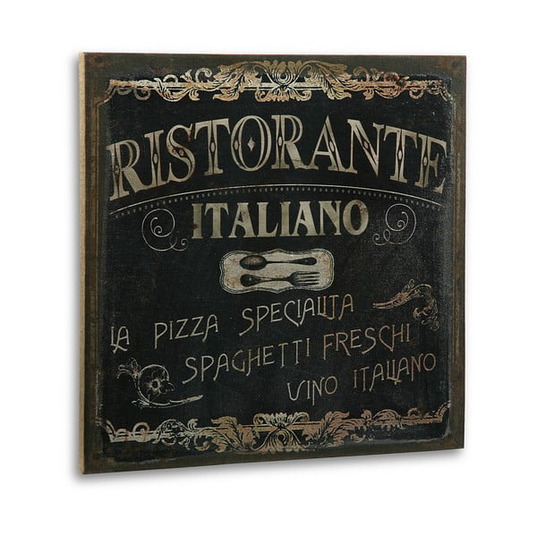Drewniany obraz Ristorante Italiano