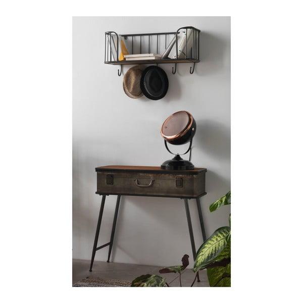 Czarna lampa stołowa z elementami w kolorze miedzi Geese Mic