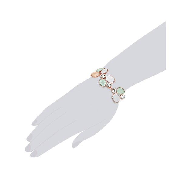 Bransoletka ze Swarovski Elements Stone Orange/Green/White
