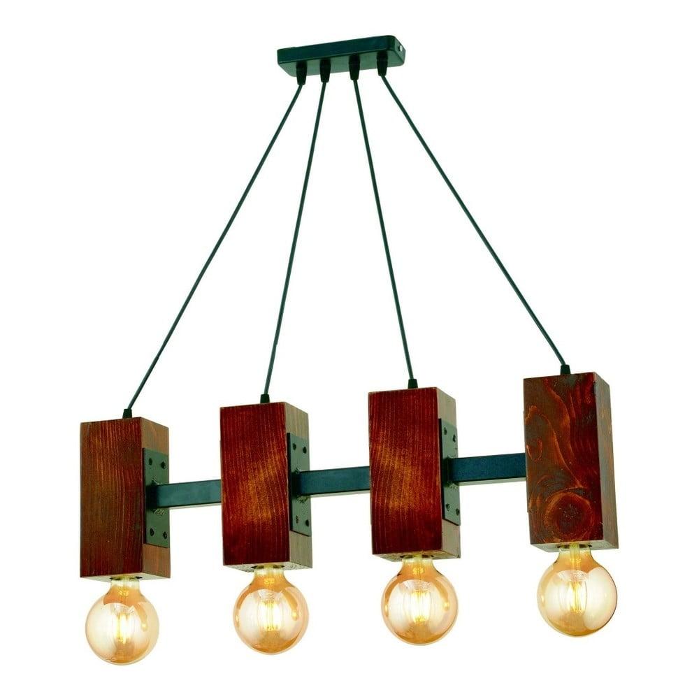 Lampa wisząca z drewna grabu Carina Quatro