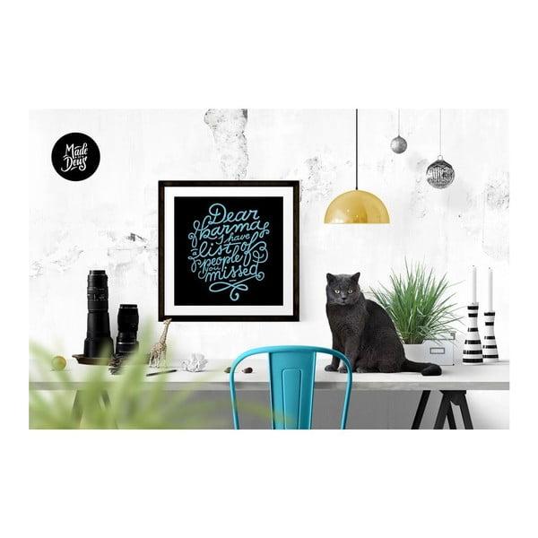 Plakat Dear Karma Blue, 30x30 cm