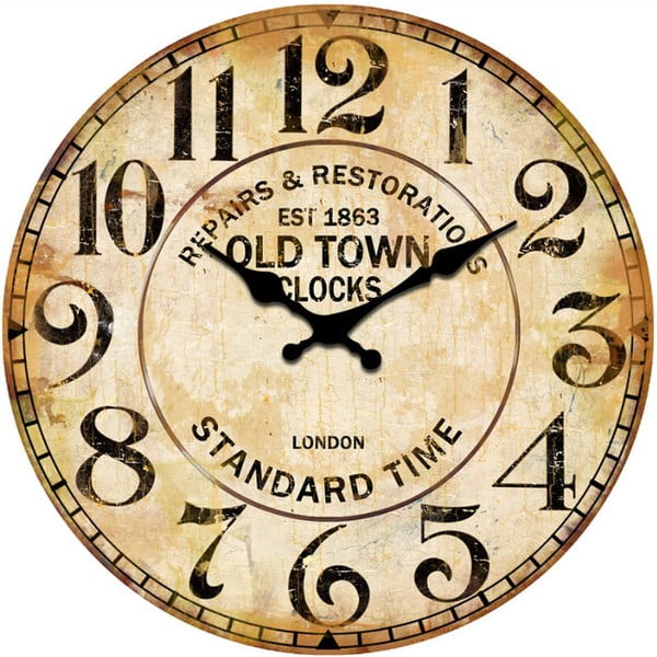 Szklany zegar Repair, 34 cm