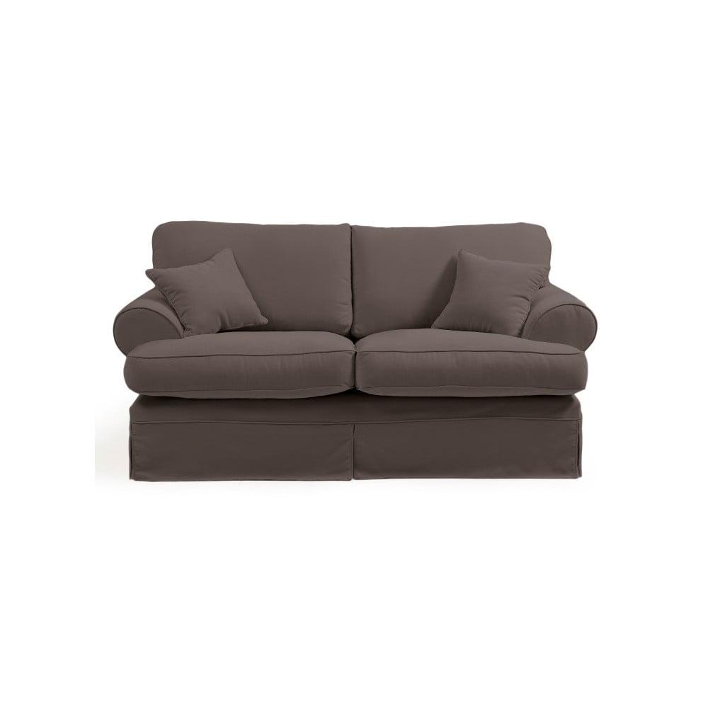 szarobe owa sofa dwuosobowa max winzer hermine bonami. Black Bedroom Furniture Sets. Home Design Ideas
