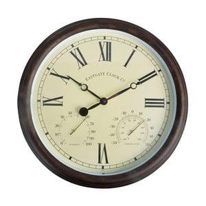 Zewnętrzny zegar ogrodowy z cyframi rzymskimi EsschertDesign