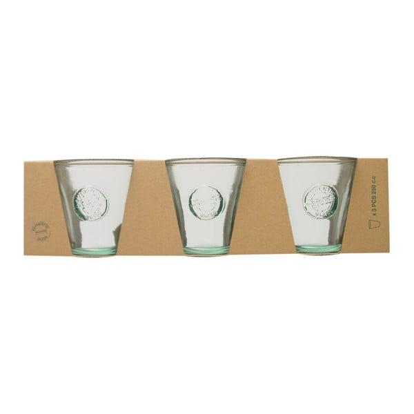 Zestaw 3 szklanek ze szkła z recyklingu Ego Dekor Authentic, 250 ml