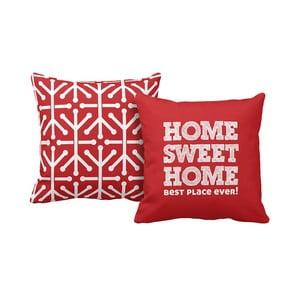 Zestaw 2 poduszek Home Red, 43x43 cm